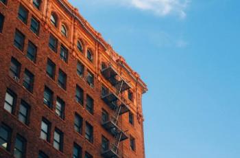brown brick apartment building