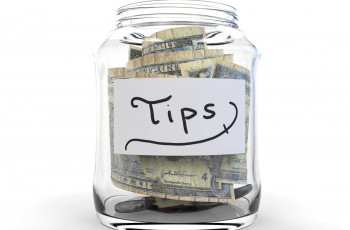 a jar with tips