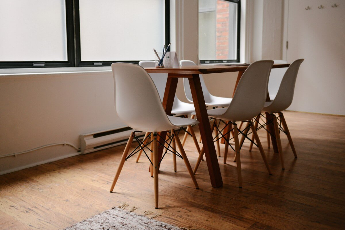 A table and some chairs are essential for every apartment
