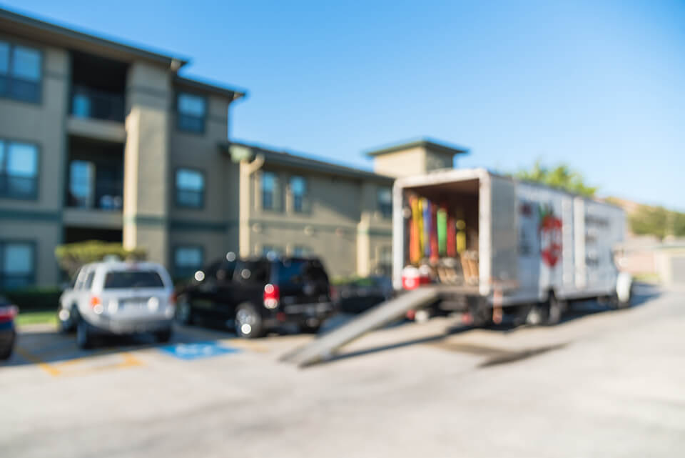 Professional movers have modern equipment