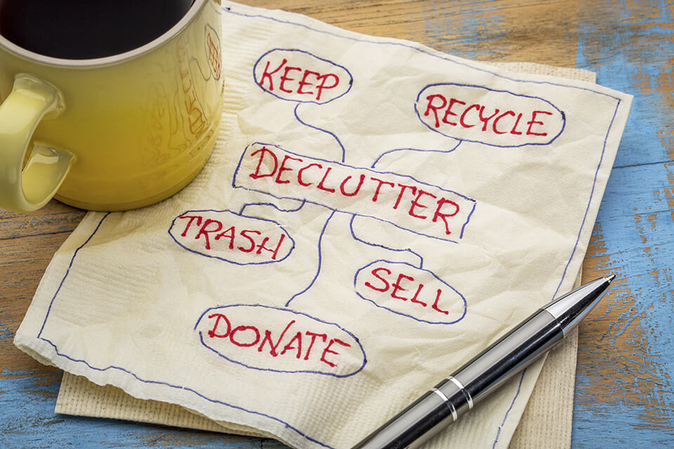 Save money by decluttering,