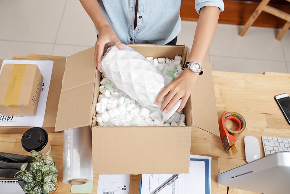 Fragile items should be packed first