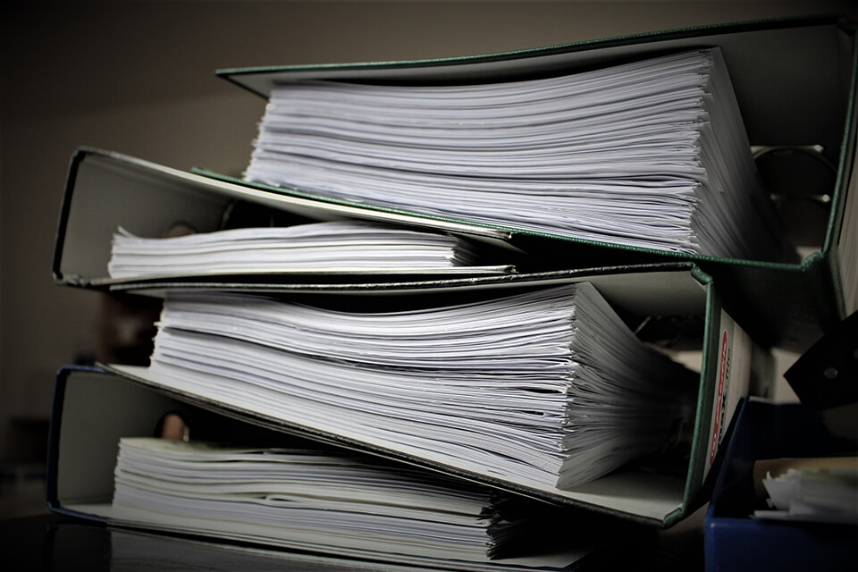 Collect all documentation before you choose what to do with each paper and file.