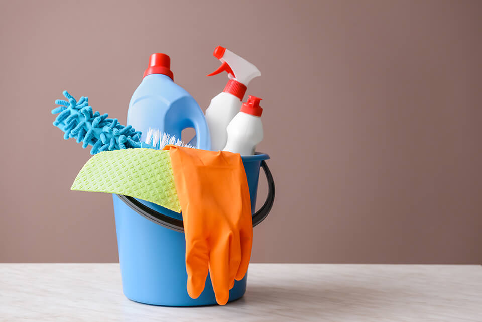 You can get a multi-purpose cleaner instead of several different kinds of chemicals