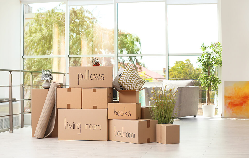 Put all things you have packed into one room