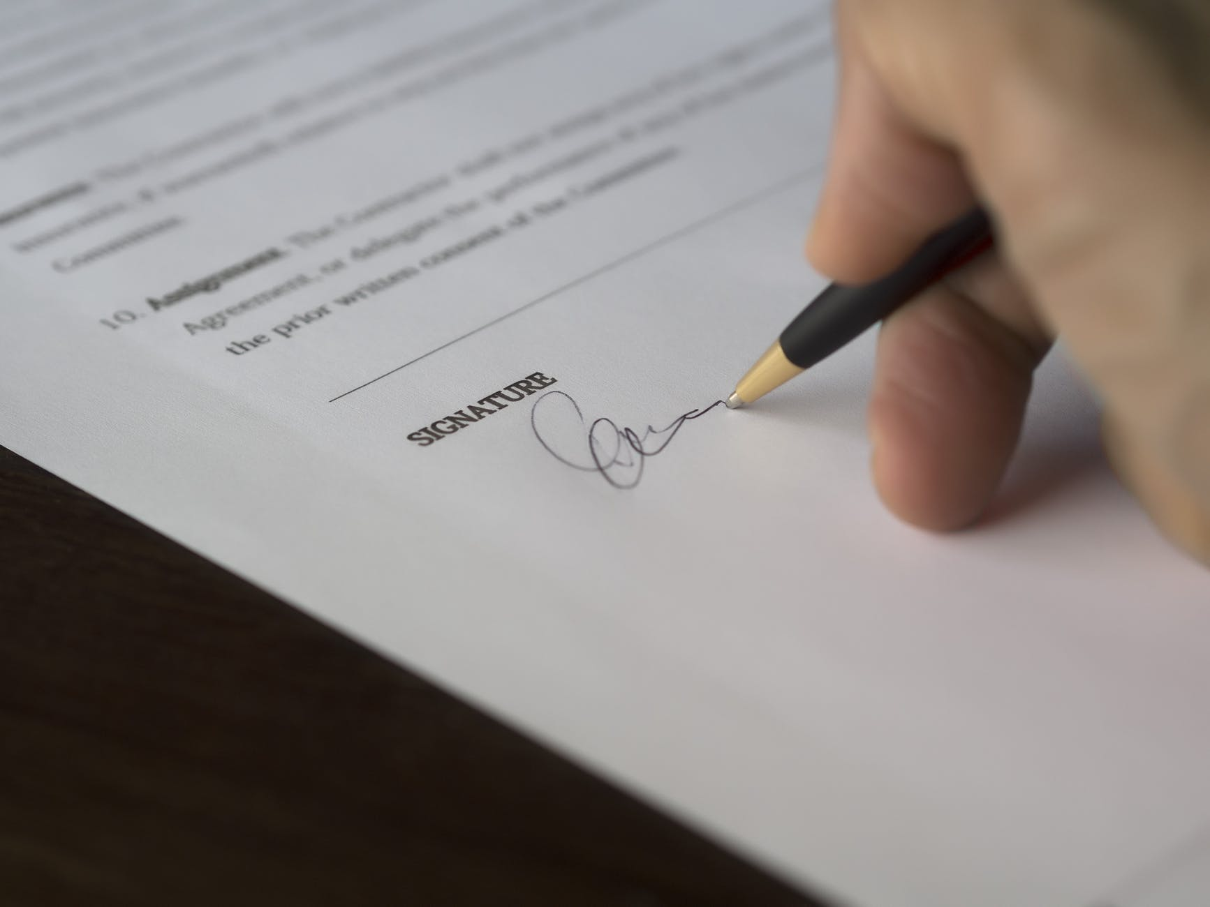 There are certain personal details that mustn't be included in the documents