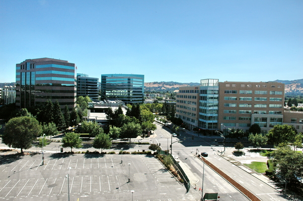 View of office buildings