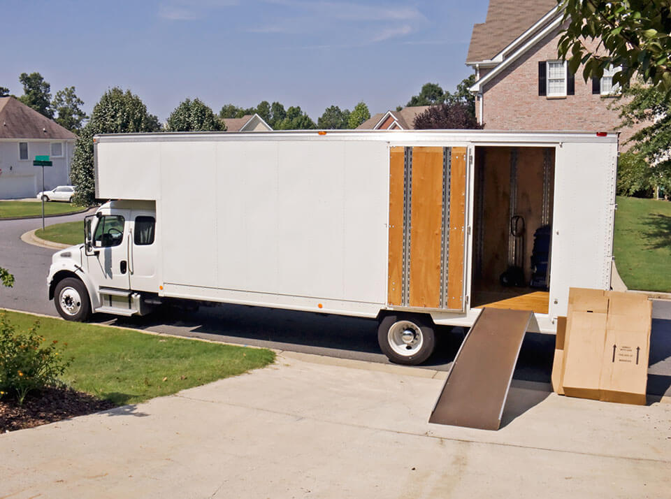 A truck that was booked through an app for moving