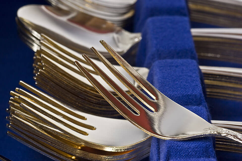 Forks in a tray